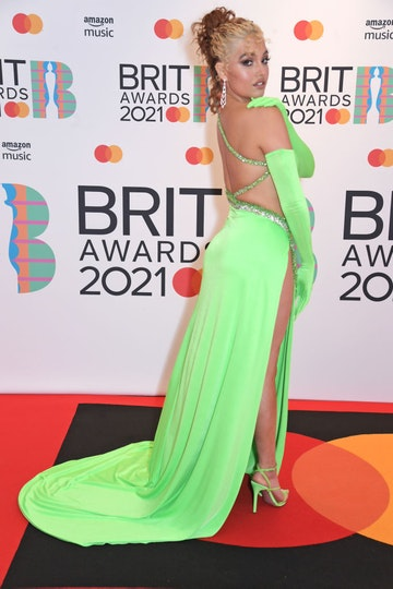 Mabel arrives at The BRIT Awards 2021 at The O2 Arena on May 11, 2021 in London, England.  (Photo by David M. Benett/Dave Benett/Getty Images)