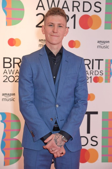 Nathan Evans arrives at The BRIT Awards 2021 at The O2 Arena on May 11, 2021 in London, England.  (Photo by David M. Benett/Dave Benett/Getty Images)