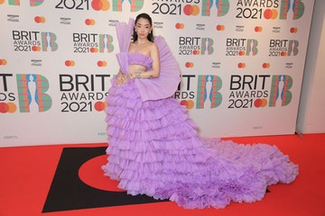 Rina Sawayama arrives at The BRIT Awards 2021 at The O2 Arena on May 11, 2021 in London, England.  (Photo by David M. Benett/Dave Benett/Getty Images)