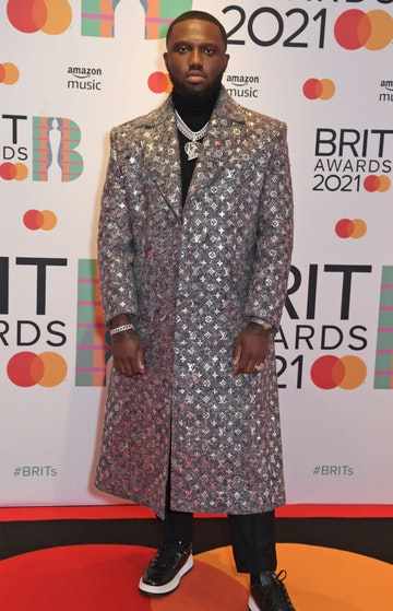 Headie One arrives at The BRIT Awards 2021 at The O2 Arena on May 11, 2021 in London, England.  (Photo by David M. Benett/Dave Benett/Getty Images)