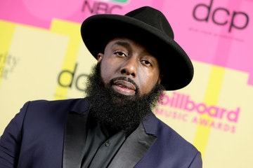 Trae tha Truth poses backstage for the 2021 Billboard Music Awards, broadcast on May 23, 2021 at Microsoft Theater in Los Angeles, California. (Photo by Rich Fury/Getty Images for dcp)
