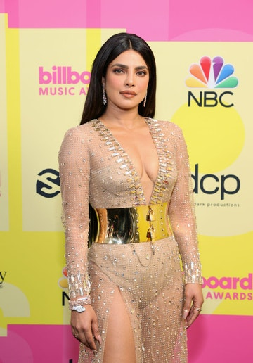 Priyanka Chopra Jonas poses backstage for the 2021 Billboard Music Awards, broadcast on May 23, 2021 at Microsoft Theater in Los Angeles, California. (Photo by Rich Fury/Getty Images for dcp)