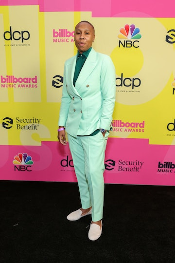 Lena Waithe poses backstage for the 2021 Billboard Music Awards, broadcast on May 23, 2021 at Microsoft Theater in Los Angeles, California. (Photo by Rich Fury/Getty Images for dcp)