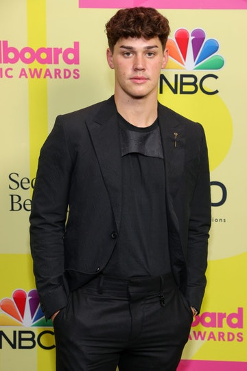 Noah Beck poses backstage for the 2021 Billboard Music Awards, broadcast on May 23, 2021 at Microsoft Theater in Los Angeles, California. (Photo by Rich Fury/Getty Images for dcp)