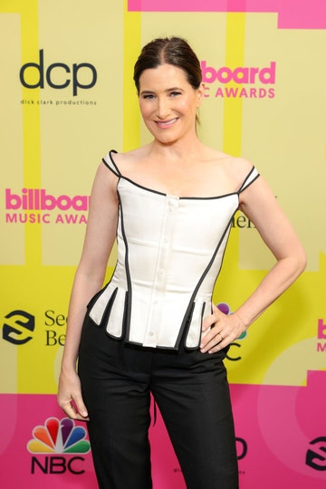 Kathryn Hahn poses backstage for the 2021 Billboard Music Awards, broadcast on May 23, 2021 at Microsoft Theater in Los Angeles, California. (Photo by Rich Fury/Getty Images for dcp)