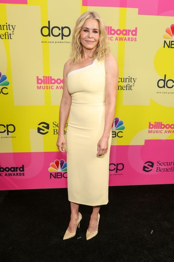 Chelsea Handler poses backstage for the 2021 Billboard Music Awards, broadcast on May 23, 2021 at Microsoft Theater in Los Angeles, California. (Photo by Rich Fury/Getty Images for dcp)