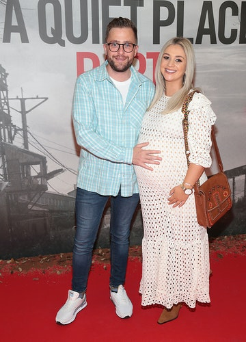 George McMahon and his wife Rachel pictured at the 'A Quiet Place Part II 'screening at the Odeon Cinema in Point Square ,Dublin. Picture  Brian McEvoy/ PIP