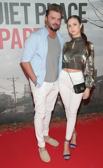 Patrick McLoughney and Mihaela Cujba pictured at the 'A Quiet Place Part II 'screening at the Odeon Cinema in Point Square ,Dublin. Picture  Brian McEvoy/ PIP