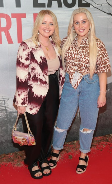 Laura Mullett and Jade Mullett pictured at the 'A Quiet Place Part II 'screening at the Odeon Cinema in Point Square ,Dublin. Picture  Brian McEvoy/ PIP