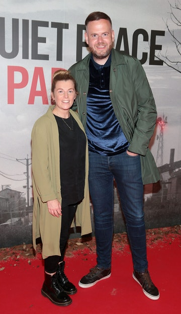 Leah Holmes and Stephen Cramp pictured at the 'A Quiet Place Part II 'screening at the Odeon Cinema in Point Square ,Dublin. Picture  Brian McEvoy/ PIP
