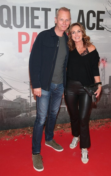 Lorraine Keane and husband Peter Devlin pictured at the 'A Quiet Place Part II 'screening at the Odeon Cinema in Point Square ,Dublin. Picture  Brian McEvoy/ PIP