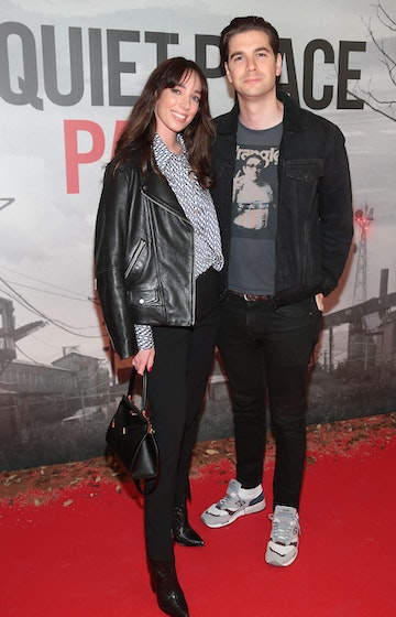 Ciara O' Doherty and Joseph Sheridan pictured at the 'A Quiet Place Part II 'screening at the Odeon Cinema in Point Square ,Dublin. Picture  Brian McEvoy/ PIP
