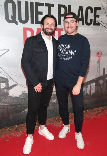 Shane Cassidy and Rob Kenny pictured at the 'A Quiet Place Part II 'screening at the Odeon Cinema in Point Square ,Dublin. Picture  Brian McEvoy/ PIP